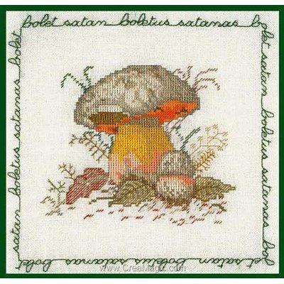 Champignon - bolet tableau broderie point de croix - Le Bonheur Des Dames