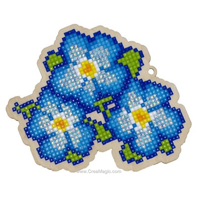 Kit broderie diamant blue pansies de Wizardi