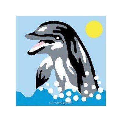 Luc Création kit canevas a broder pour enfants sourire du dauphin