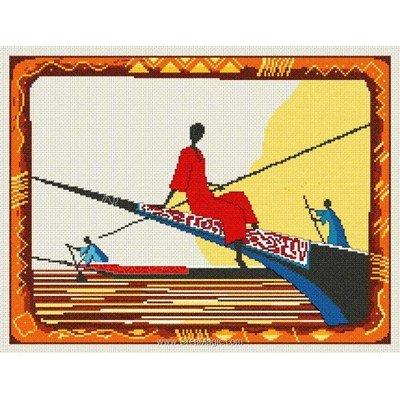 Kit à broder au point de croix le lac niger - toile lin d'Anagram