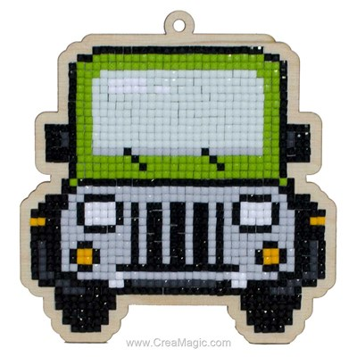 Broderie diamant jeep - Wizardi