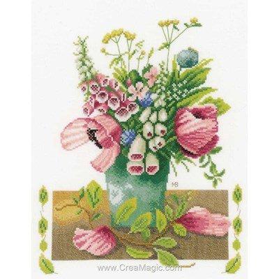 Broderie summer bouquet - mb - etamine - Lanarte