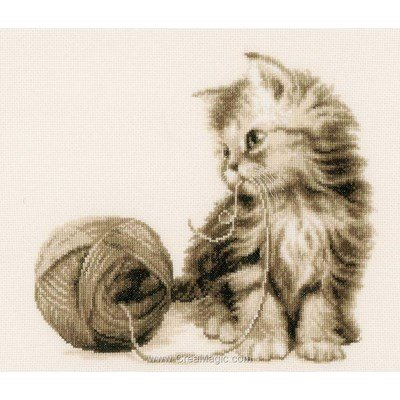 Le jeu du chat et la pelote point de croix à broder - Vervaco