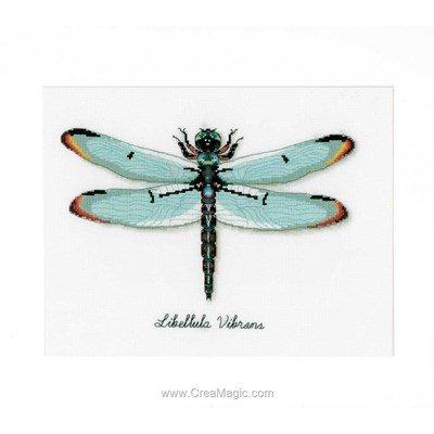 Kit point de croix beau libellule - Vervaco