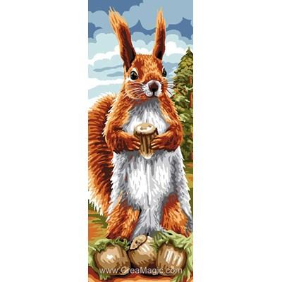 Luc Création canevas l' écureuil et ses noisettes