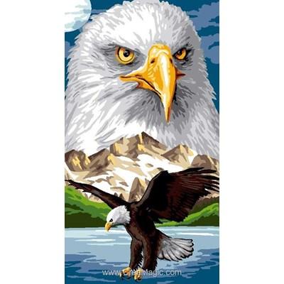 Canevas le vol de l'aigle royal - Luc Création