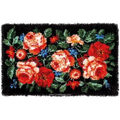 Kit tapis point noue roses majestiques de Vervaco