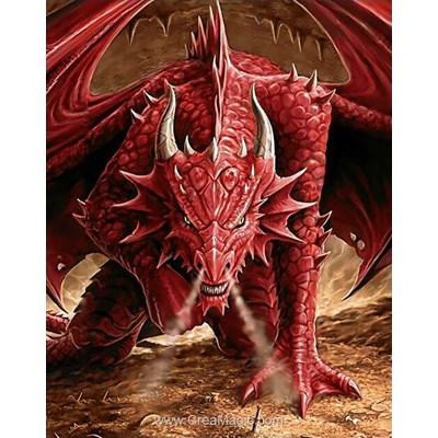 Broderie diamant Wizardi dragon's anger