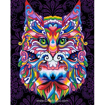 Broderie diamant mystical cat de Diamond Painting