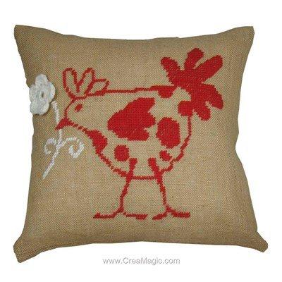 Kit coussin flower hen - Anette Eriksson