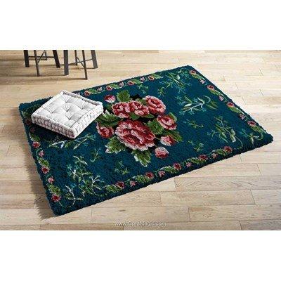 Kit tapis point noué jeu de fleurs de Smyrnalaine