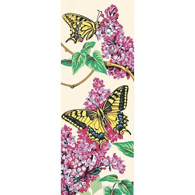 Canevas les papillons et lilas de SEG