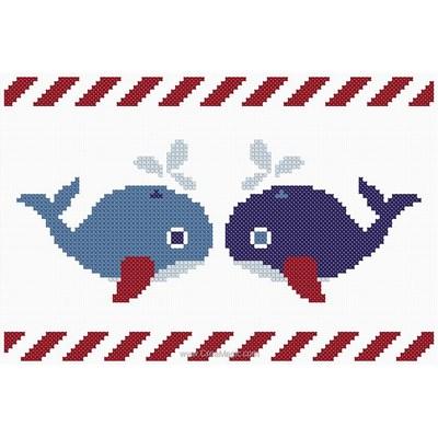 Les baleines kit broderie point compté - Princesse