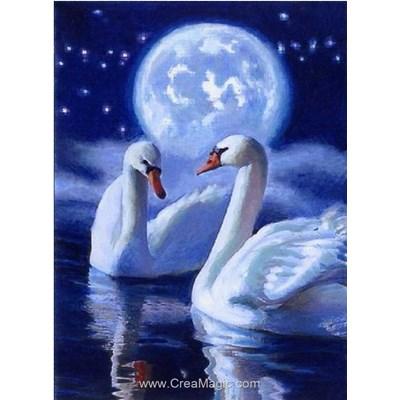 Broderie diamant mystic swans de Collection d'art