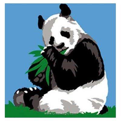 Kit canevas avec fils Margot panda câlin