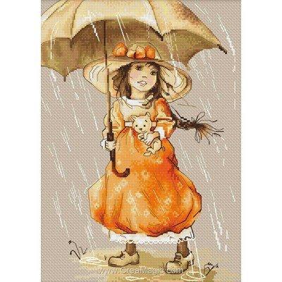 Broderie au point de croix point compté Luca-S sous le parapluie