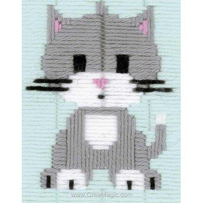 Canevas point lance le chaton gris - Vervaco