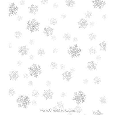 Toile aida 7.1 pts imprimée flocons argentés à broder - Brod'star