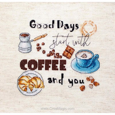 Broderie au point de croix point compté coffee time - ma pause café de LETISTITCH