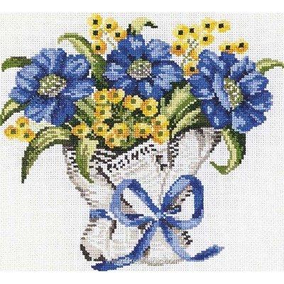kit princesse broder bouquet fleurs bleues pas cher. Black Bedroom Furniture Sets. Home Design Ideas