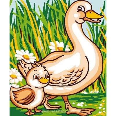 Canne et son caneton kit canevas Luc Création pour enfant