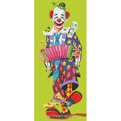 Canevas le clown à l'accordéon de Collection d'art