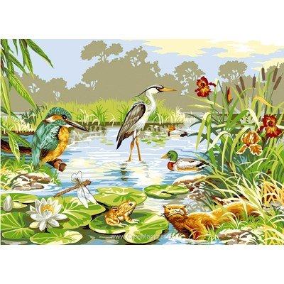 SEG canevas les animaux des marais