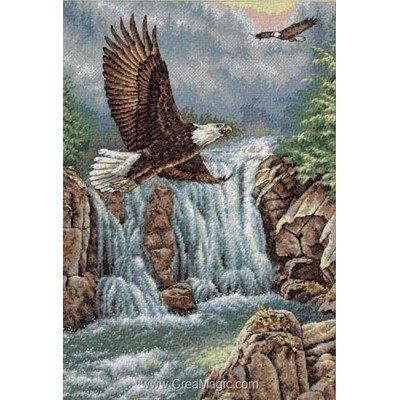Modèle broderie au point de croix Dimensions eagle's majesty
