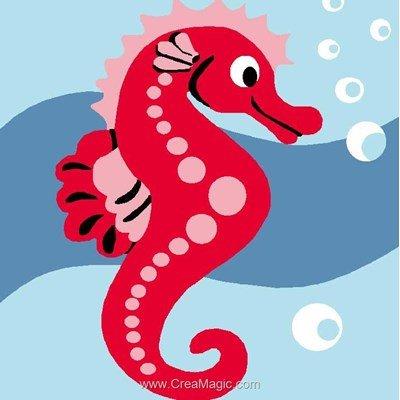 Kit canevas Luc Création mon hippocampe