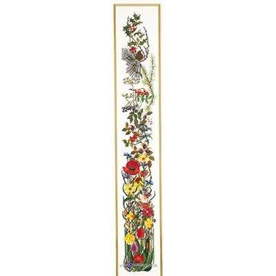 Seasons bell pull sur lin point de croix à broder - Thea Gouverneur