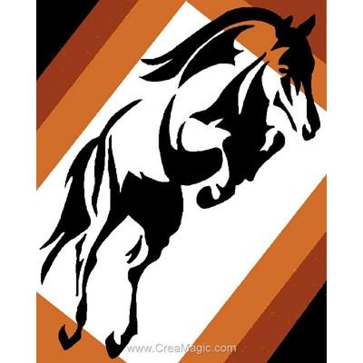 Kit canevas Luc Création esquisse de cheval