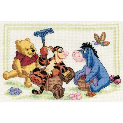 Broderie point compté Royal Paris jardinage de winnie - disney