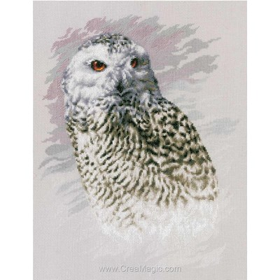 Kit Lanarte à broder au point de croix snowy owl