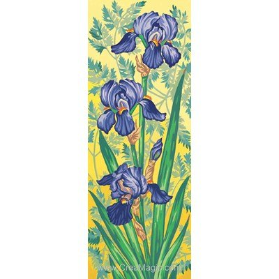 Canevas les iris mauves de Margot