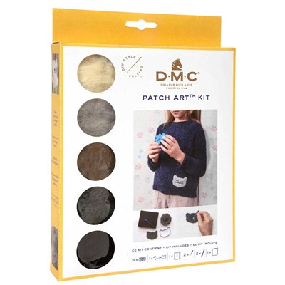 Kit patch art chien et chat - DMC