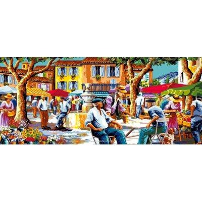 Canevas le marché de provence de Mimo Verde