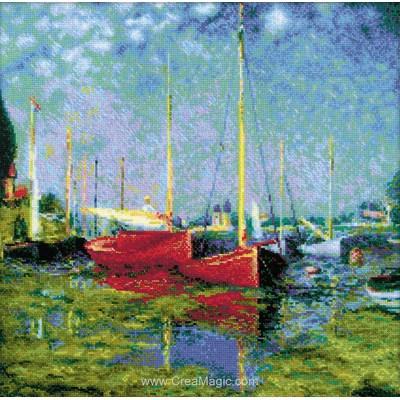 Point de croix RIOLIS argenteuil d'après c. Monet