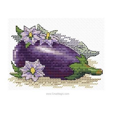 Broderie douce aubergine de MP Studia