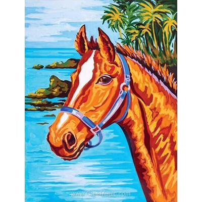 Cheval aux tropiques canevas chez Collection d'art