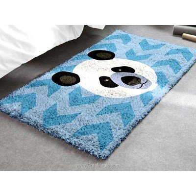 Kit tapis point noue Smyrnalaine panda mosaique