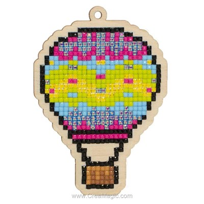Broderie diamant air balloon de Wizardi