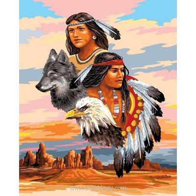 Canevas esprits indiens de Luc Création