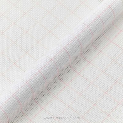 Toile magic guide aida 5.5 pts blanc - DMC à broder