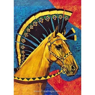 Broderie diamant Collection d'art beauté de cheval