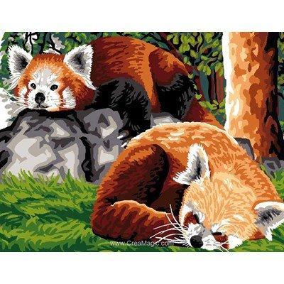 Canevas pandas roux de Luc Création