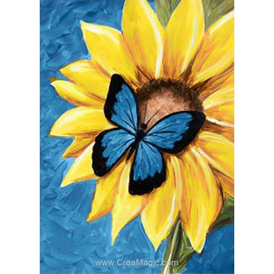 Kit broderie diamant butterfly and sunflower de Wizardi
