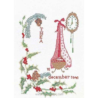 December sur aida broderie tableau prénom - Thea Gouverneur