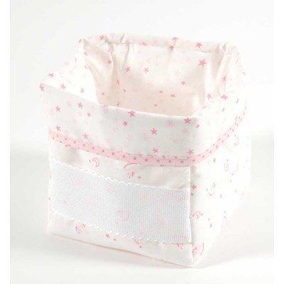 Panier de rangement baby star - rose à broder de DMC