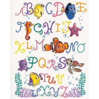 Broderie au point de croix Vervaco alphabet coloré de némo - disney