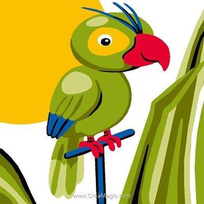 Kit canevas Luc Création pour débutant répète mon perroquet!